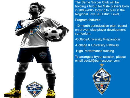 Open Tryout for Males born in 2006-2005