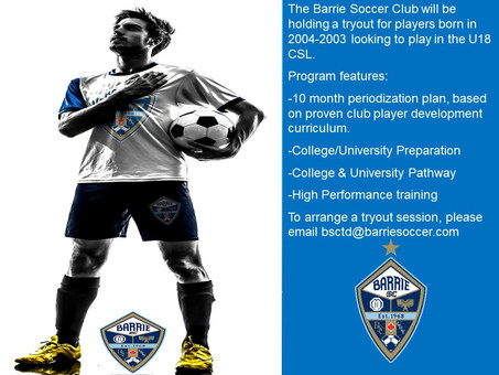 Open Tryout for Males born in 2004-2003