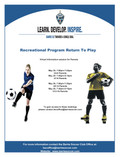 Recreational Program Return To Play Information Session