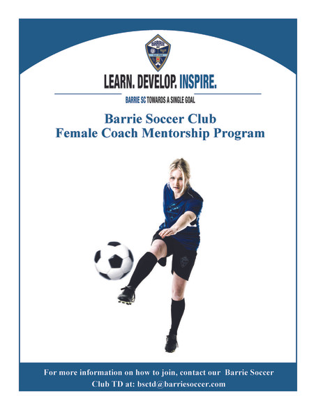 Barrie Soccer Female Coach Mentorship Program