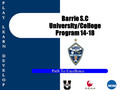 Barrie Soccer Club New College/University Program