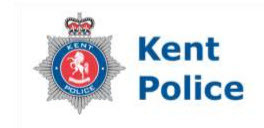 Kent Police with shield symbol