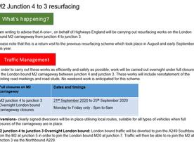 M2 Resurfacing Junction 4 to 3