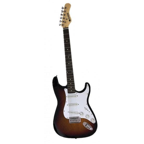 Guitare électrique MEG - rouge et noir