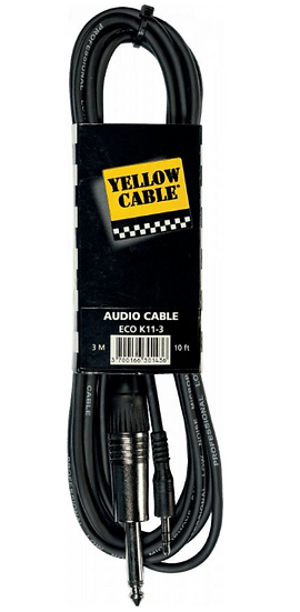 Yellow Cable - ECO K11-3, Mini j. stéréo mâle/ j. mono mâle 3m