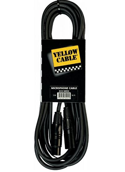Yellow Cable - ECO M05X, Câble XLR mâle/XLR femelle 5m