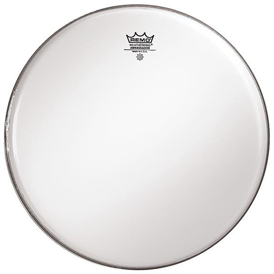 "Remo BA021300 Smooth White 13"" Ambassador Batter Drumhead"