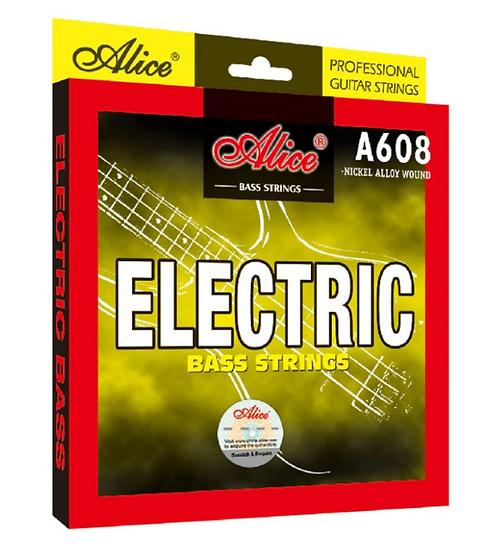 Alice - A608-4M, Jeu de 4 Cordes Basse électrique Medium 045 - 105