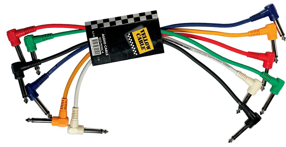 Yellow Cable - P030C, Jack mâle/ Jack mâle mono 30 cm - par unité