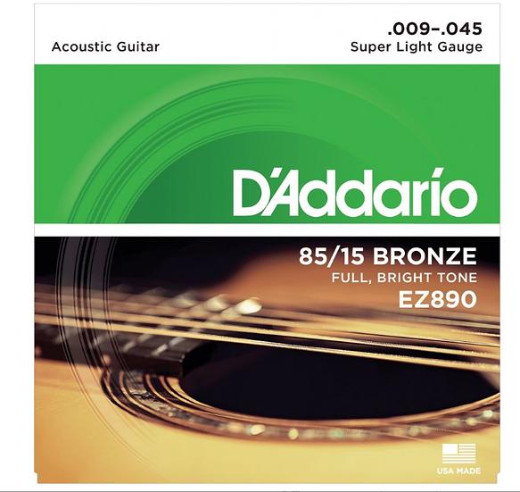 D'Addario - EZ890 Super Light , Jeux Guitare Acoustique 09-12-15-25-35-45