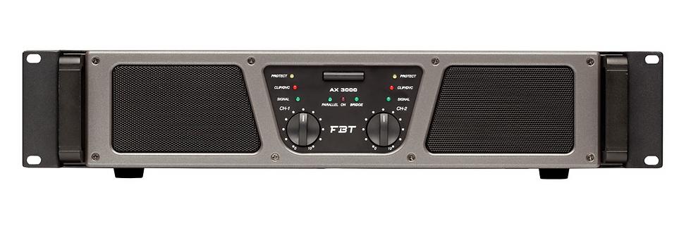 FBT - AX 3000, Ampli de puissance 2X1500W RMS/ 4 Ohms