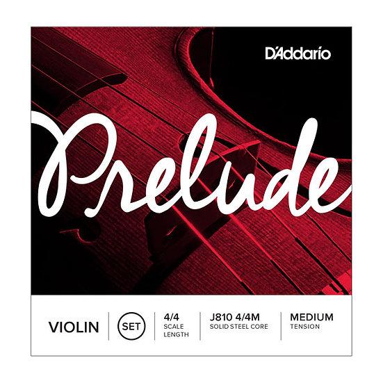 Cordes violon Prelude - D'addario J810 4/4L Tension Medium