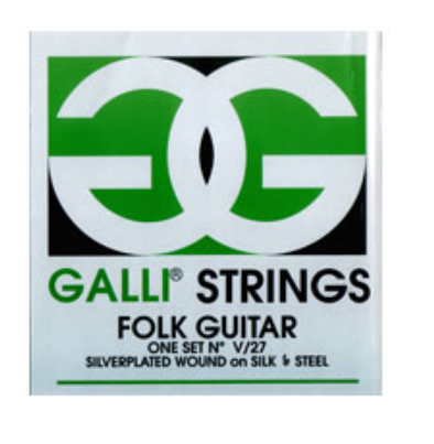 Galli V27 Silk & Steel Strings Ball End Folk Guitar Strings