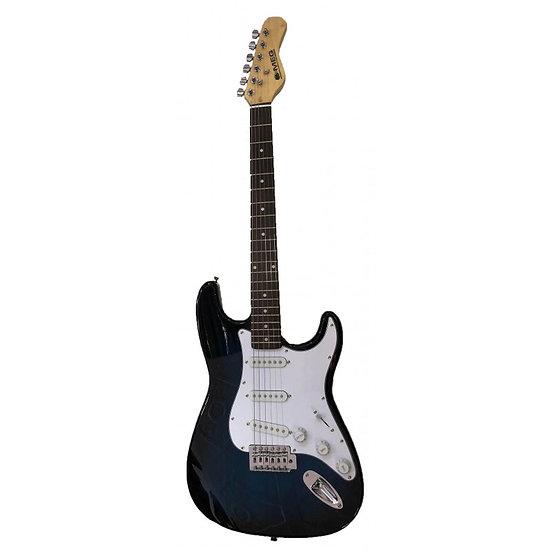 Guitare électrique MEG - Bleu et noir