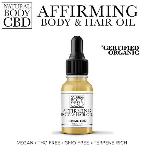 Affirming Body & Hair Oil (Certified Organic)