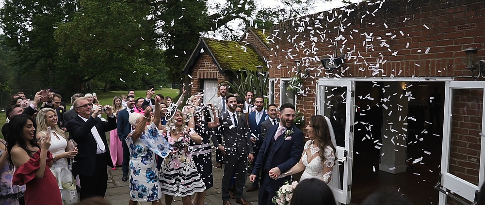 Confetti at Stoke Place | West Sussex Wedding Video