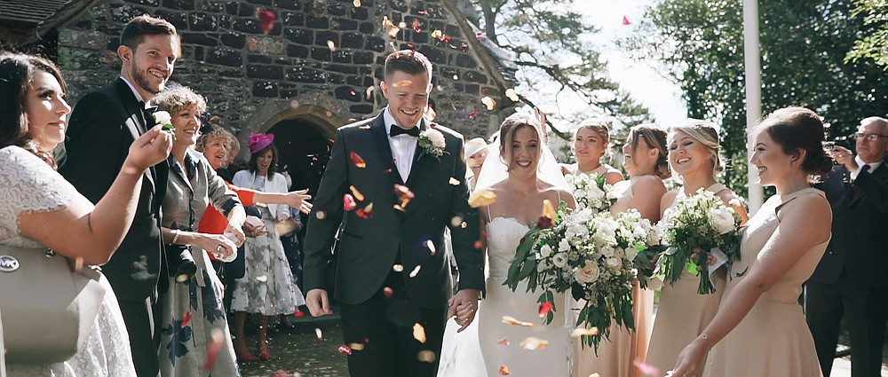 Confetti at Sopley Mill | West Sussex Videographer