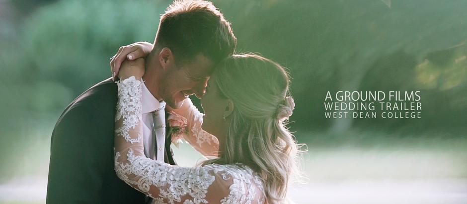 Catherine & Ryan's Wedding Trailer at West Dean College | West Sussex Wedding