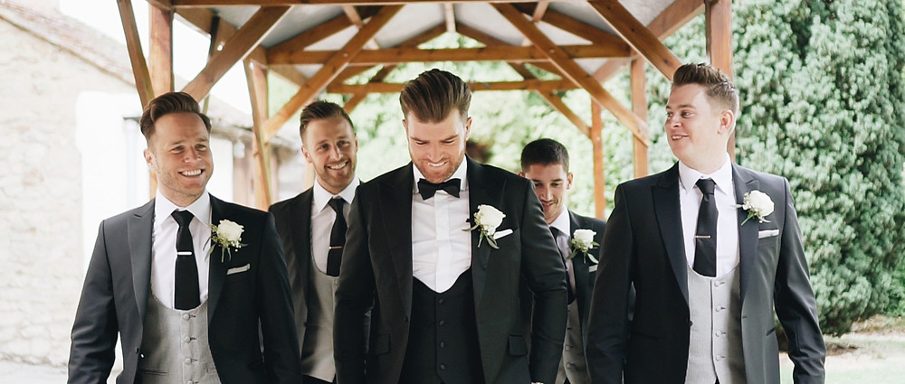 Groomsmen at Notley Abbey | West Sussex Videographers