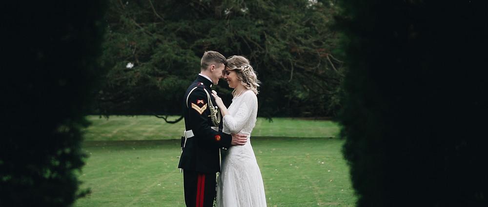 bride and groom   West sussex wedding video