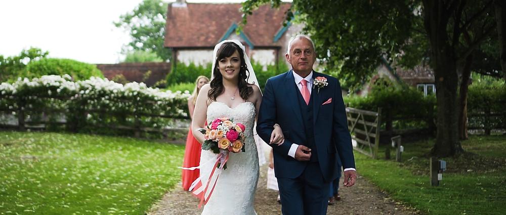 Hampshire wedding videographer | Tithe Barn Wedding | Ground Films