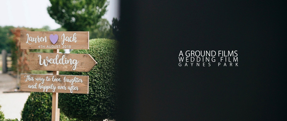Gaynes Park Wedding Video | Essex Wedding Videographers | Ground Films