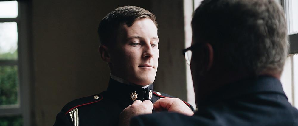 military groom | Hintlesham Hall | Ground Films