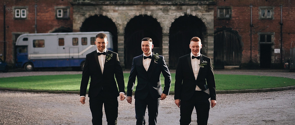 groom and groomsmen   West Sussex wedding videographer   Ground Films