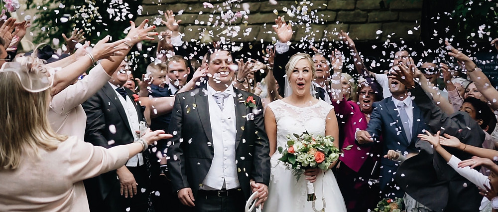 Confetti shot | West Sussex Wedding Videography | Ground Films