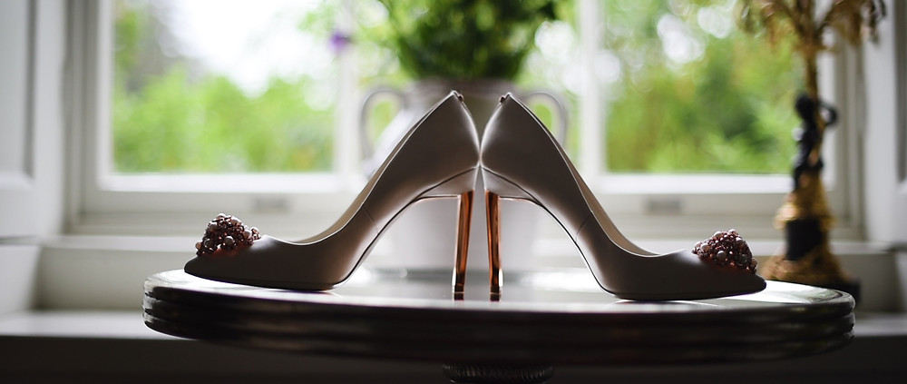 Brides Shoes   Stoke Place Wedding   Ground Films