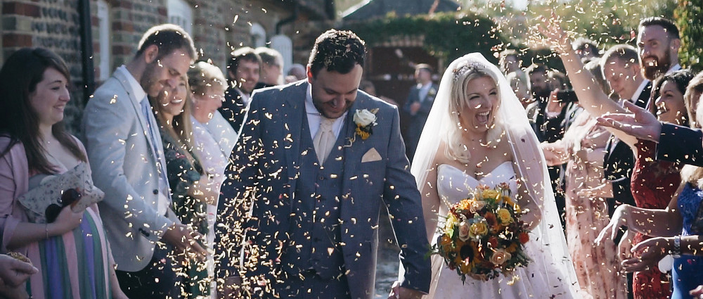 wedding video at Southend Barns | West Sussex