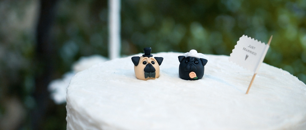 pug wedding cake toppers - Ground Films