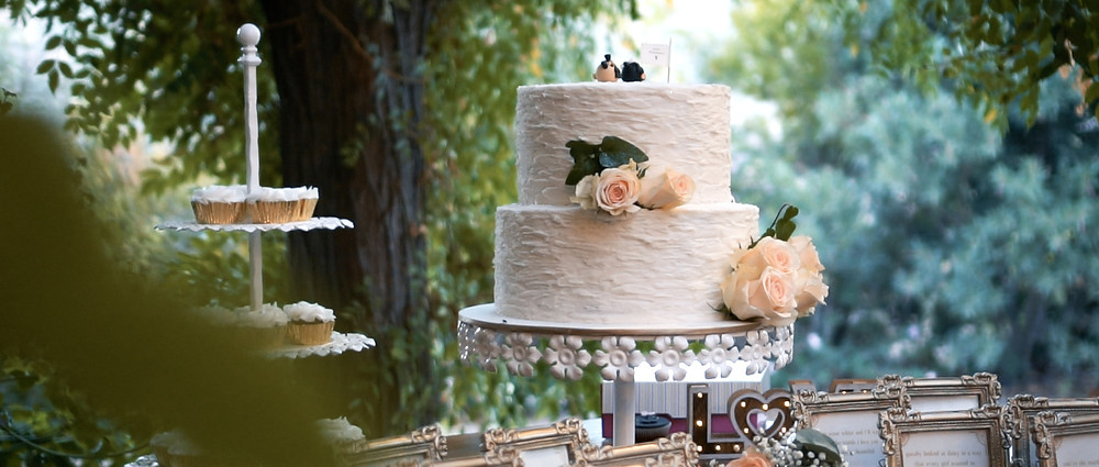 Pug wedding cake at Vasilias - Ground Films