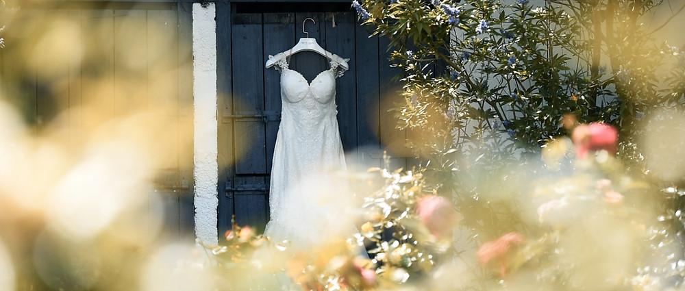 Southend Barns wedding videographer - Wedding Dress - Ground Films