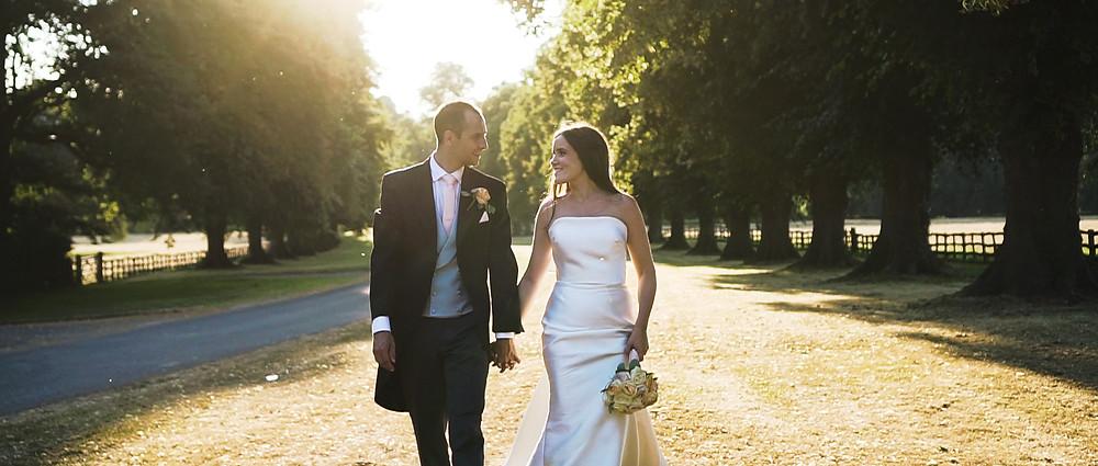 Sunset shoot | Stoneleigh Abbey wedding | Ground Films