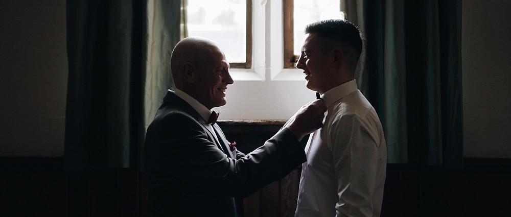 Groom Prep   West Sussex wedding videographer   Ground Films