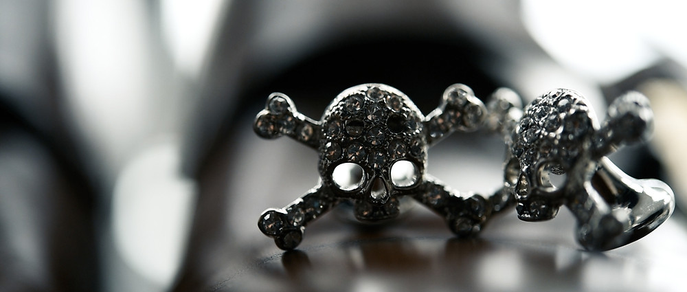 skull and crossbones wedding cufflinks - ground films
