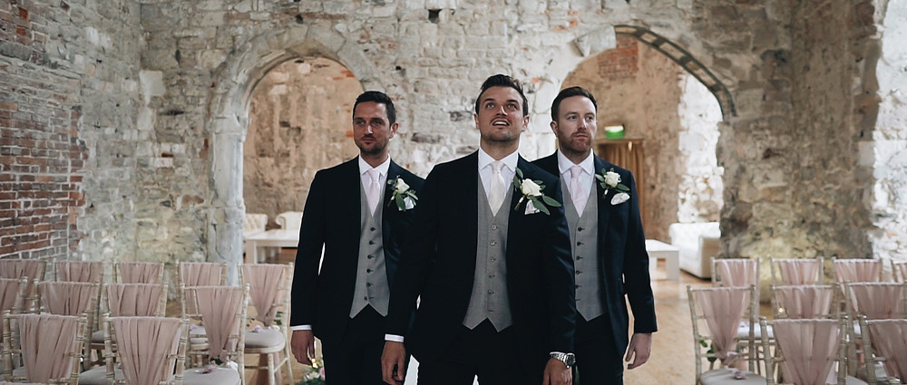 Grom and Groomsmen at lulworth Castle | Ground Films