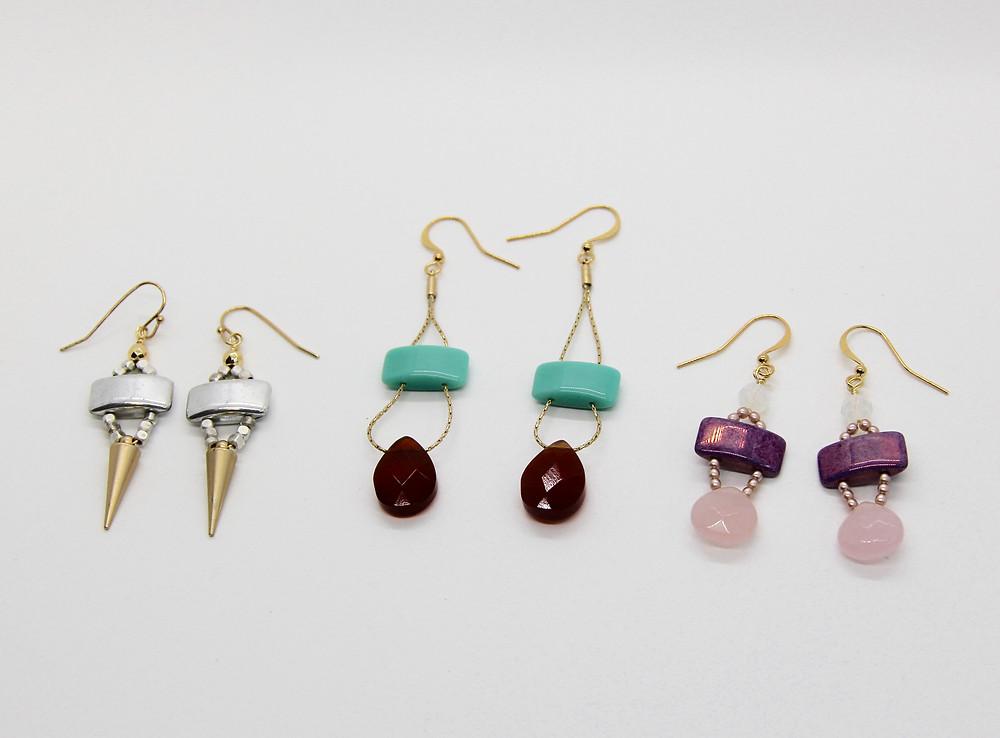Carrier beads earrings $22.00
