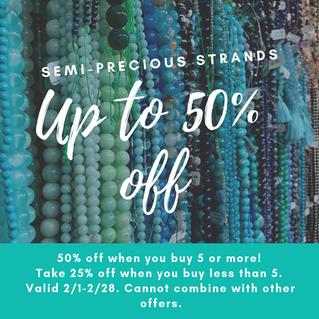 Save on Semi-precious Strands!