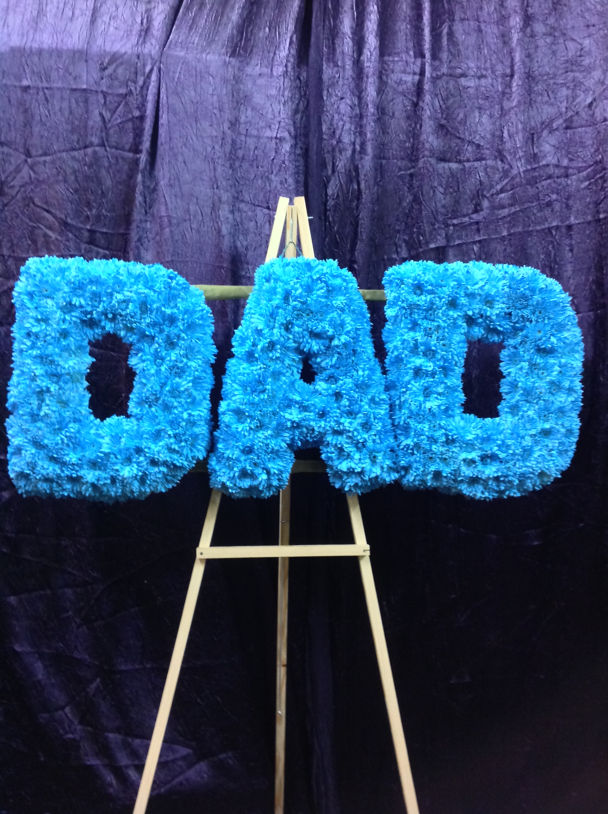 DAD Flower Letters