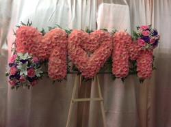 MOM Flower letters