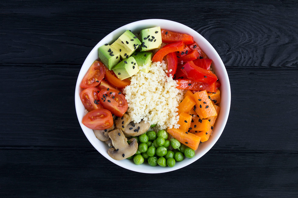 top-view-of-vegan-poke-bowl-with-couscou