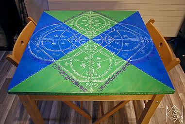 Peinture sur table 2