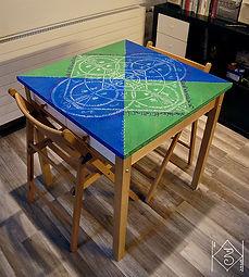 Peinture sur table 1