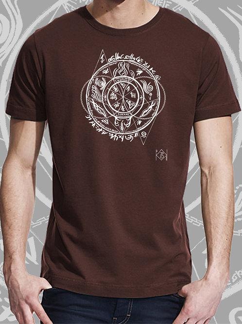 T-shirt Homhös brun