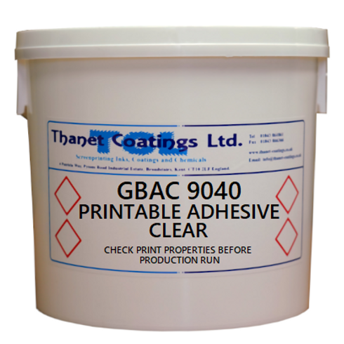 GBAC 9040 PRINTABLE ADHESIVE CLEAR