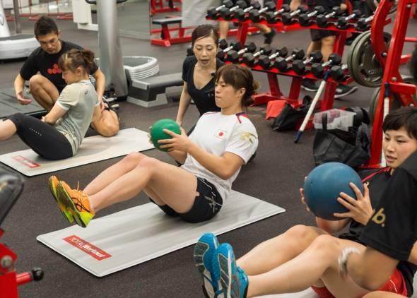 女子レスリング部Training (2)