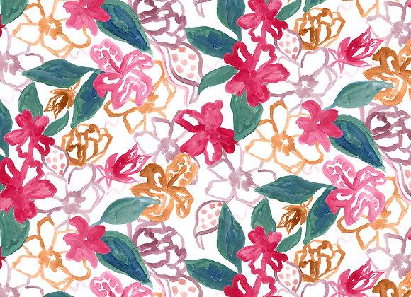 EM186 Painted Floral & Foliage