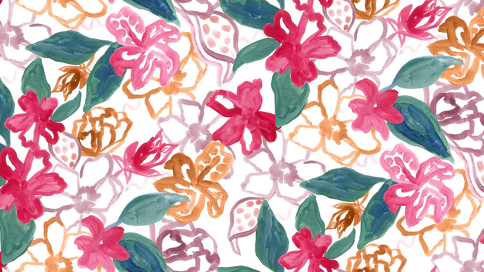 Painted Floral & Foliage